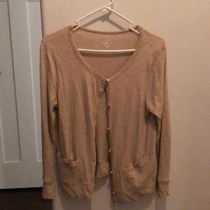 J Cree cream cardigan with gold buttons